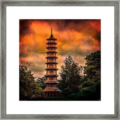 Kew Gardens Pagoda Framed Print by Chris Lord