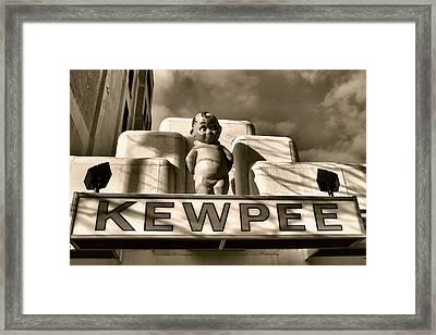 Kewpee Restaurant Framed Print by Dan Sproul