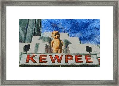 Kewpee Restaurant Lima Ohio Framed Print by Dan Sproul