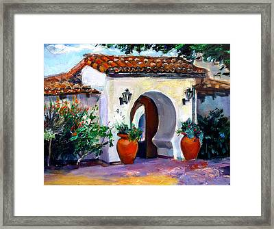 Key Hole Archway 415 Framed Print by Renuka Pillai