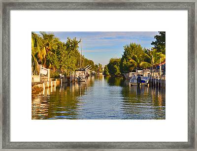 Key Largo Canal 2 Framed Print by Chris Thaxter