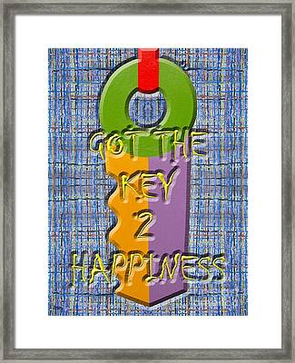 Key To Happiness Framed Print by Patrick J Murphy
