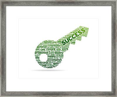 Key To Success Framed Print by Aged Pixel