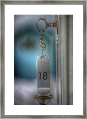 Key To The Door Framed Print by Nathan Wright