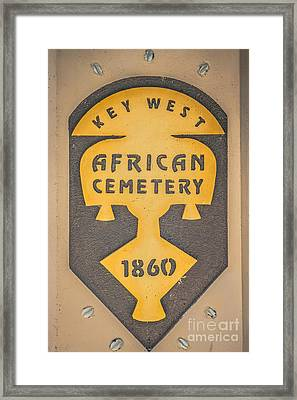 Key West African Cemetery 3 - Key West - Hdr Style Framed Print by Ian Monk