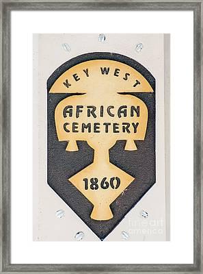 Key West African Cemetery 3 - Key West Framed Print by Ian Monk