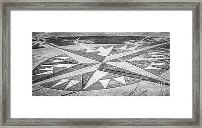 Key West African Cemetery - Key West - Black And White Framed Print by Ian Monk