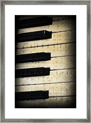 Keyboard Music Framed Print by Kenny Francis