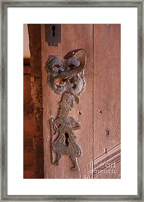 Keyhole Man Framed Print by Christiane Schulze Art And Photography