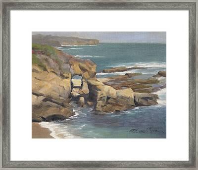 Keyhole Rock At The Montage Laguna Beach Framed Print by Anna Rose Bain