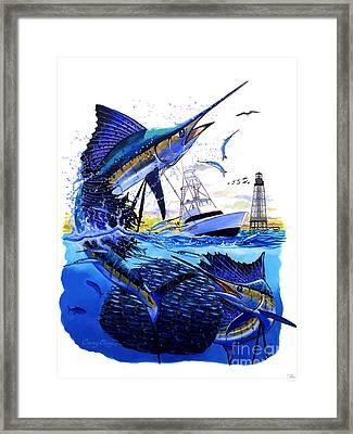 Keys Sail Framed Print by Carey Chen