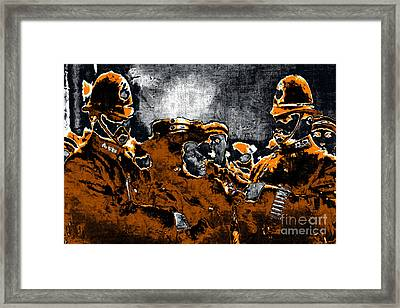 Keystone Cops - 20130208 Framed Print by Wingsdomain Art and Photography