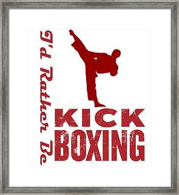 Kick Boxer Framed Print by MotionAge Designs
