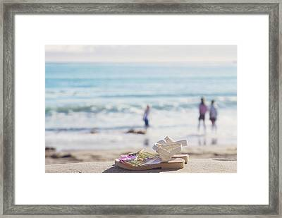 Kick Off Your Shoes... And Play Framed Print by Cindy Garber Iverson