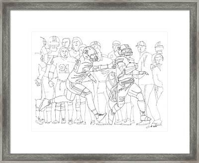 Kick Six Framed Print by Calvin Durham