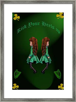 Kick Your Heels Up Framed Print by LeeAnn McLaneGoetz McLaneGoetzStudioLLCcom