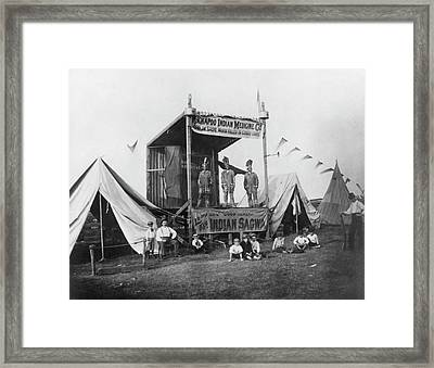Kickapoo Indian Medicine Company Framed Print by Hagley Museum And Archive