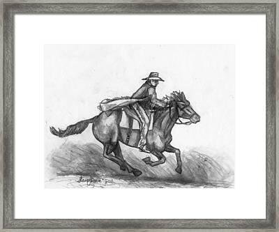 Kickin Up Dust Framed Print by Shana Rowe Jackson