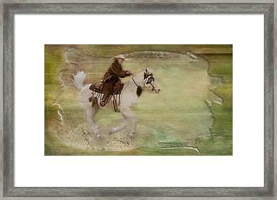 Kicking Up Some Dirt Framed Print by Susan Candelario