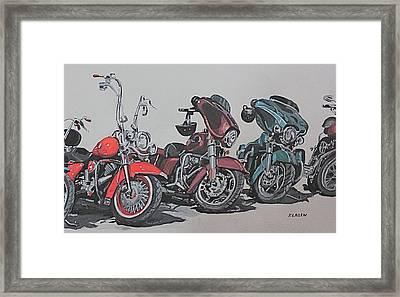 Kickstand Framed Print by Patricio Lazen