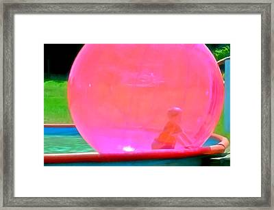Kid In Bubble Ball 1 Framed Print by Lanjee Chee