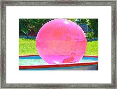Kid In Bubble Ball 2 Framed Print by Lanjee Chee