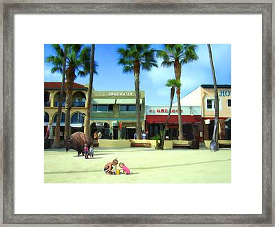 Kids At Play Framed Print by Snake Jagger