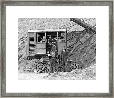 Kids At The Controls Framed Print by Underwood Archives
