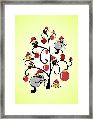 Kids Christmas Framed Print by Anastasiya Malakhova