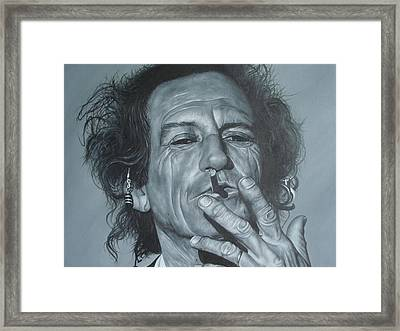 Keith Richards Framed Print by David Dunne