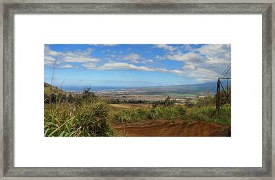 Kihei And Maalaea Framed Print by Paulette B Wright