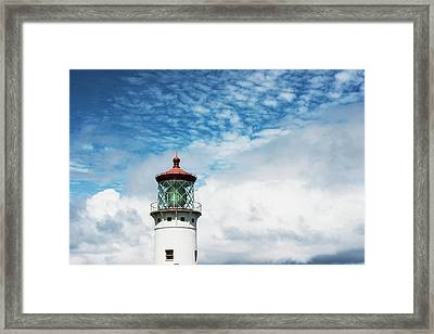 Kilauea Lighthouse, A Popular Landmark Framed Print by Robert L. Potts