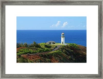 Kilauea Lighthouse Framed Print by Shahak Nagiel