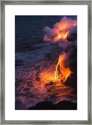 Kilauea Volcano Lava Flow Sea Entry 6 - The Big Island Hawaii Framed Print by Brian Harig