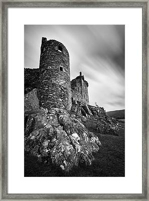 Kilchurn Castle Walls Framed Print by Dave Bowman