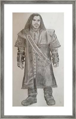 Kili From The Hobbit Framed Print by Noah Burdett
