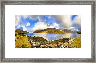 Killary Fjord - Irish Panorama Framed Print by Mark E Tisdale