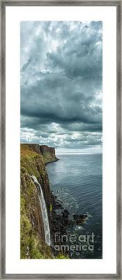 Kilt Rock And Falls Framed Print by Matt  Trimble