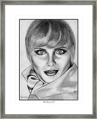 Kim Alexis In 1985 Framed Print by J McCombie