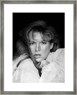 Kim Basinger Framed Print by Miro Gradinscak