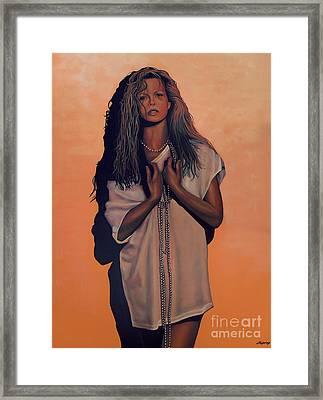 Kim Basinger Framed Print by Paul Meijering
