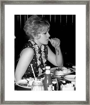 Kim Novak 1966 Framed Print by Glenn McCurdy