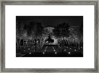 Kimbell After Dark Framed Print by Joan Carroll