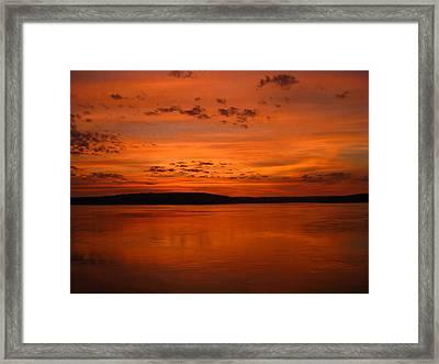 Kimberley Sunset Framed Print by Laura Hiesinger