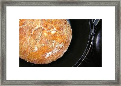 Kimberly's Overnight Crusty Bread Framed Print by James Temple