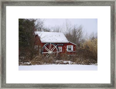 Kimberton Mill - Wintertime Framed Print by Bill Cannon