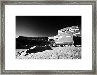 Kimex Shipyard Dry Dock And Iron Ore Processing Building Kirkenes Finnmark Norway Europe Framed Print by Joe Fox
