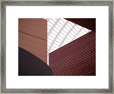 Kimmel Center Geometry Framed Print by Rona Black