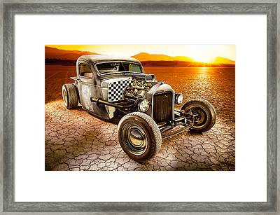Millers Chop Shop 1946 Chevy Truck Framed Print by Yo Pedro