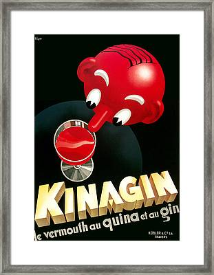 Kinagin Vermouth Advertising Poster     Framed Print by Gary Perron